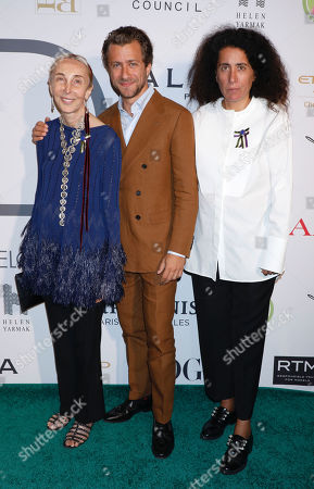 Stock Picture of Carla Sozzani, Francesco Carrozzini and Sara Sozzani Maino