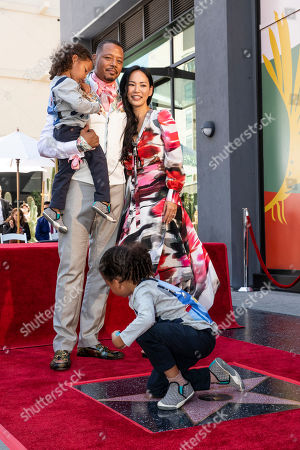 Terrence Howard pose with his partner Miranda Pak and his children as he is honored with a star on the Hollywood Walk of Fame, in Los Angeles, California, USA, 24 September 2019. Howard received the 2674th star on the Hollywood Walk of Fame, dedicated in the category of Television.