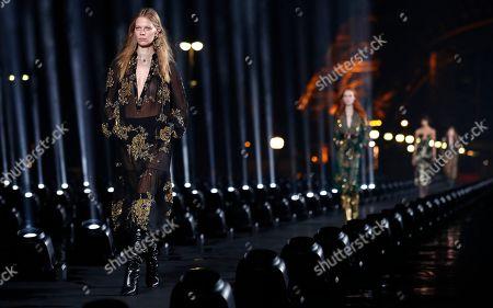 Editorial picture of Saint Laurent - Runway - Paris Fashion Week S/S 2020, France - 24 Sep 2019