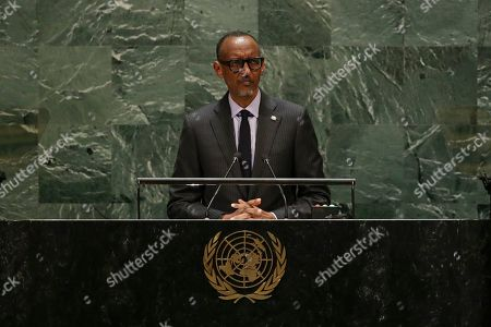 Rwanda's President Paul Kagame addresses the 74th session of the United Nations General Assembly, at the United Nations headquarters