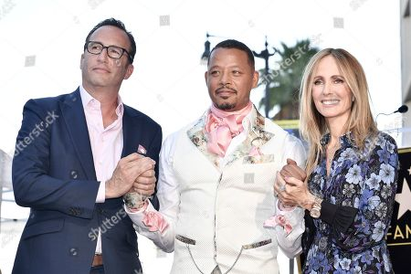 Charlie Collie, Terrence Howard, Dana Walden. Charlie Collier, from left, Terrence Howard and Dana Walden attend a ceremony honoring Terrence with a star on the Hollywood Walk of Fame, in Los Angeles
