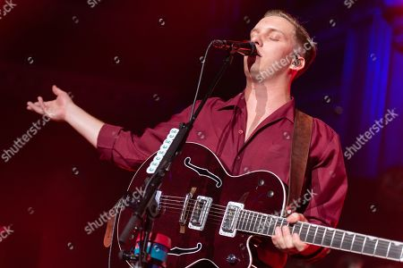 Stock Image of George Ezra performing as part of the Albert Sessions in aid of the charity Mind