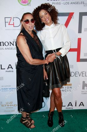 Donna Karan and Veronica Webb
