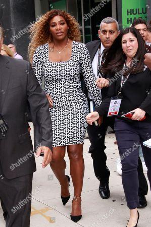 Serena Williams seen leaving Advertising Week at AMC Lincoln Square