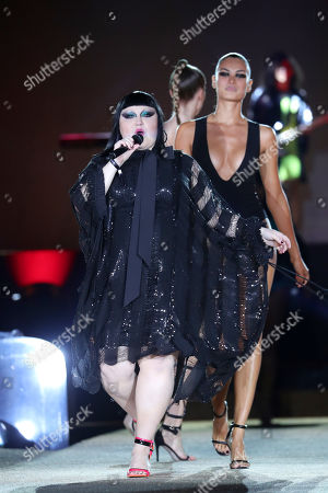 Stock Photo of US Singer Beth Ditto performs during the Women Spring/Summer 2020 collection by Etam lingerie show during the Paris Fashion Week, in Paris, France, 24 September 2019. The presentation of the Women's collections runs from 23 September to 01 October.