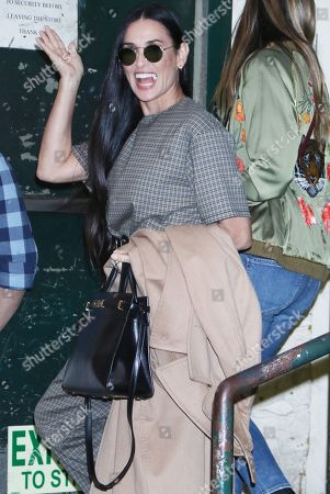 Editorial photo of Demi Moore book signing, Arrivals, New York, USA - 24 Sep 2019