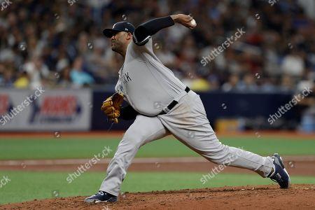 Editorial image of Yankees Rays Baseball, St. Petersburg, USA - 24 Sep 2019