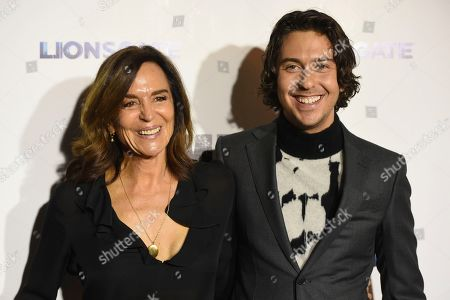 """Nat Wolff, Polly Draper. Nat Wolff, right, and his mother Polly Draper arrive at a special screening of """"Semper Fi"""", and ArcLight Hollywood Cinemas in Los Angeles"""