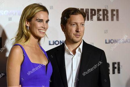 """Henry Alex Rubin, Sarah Michler. Director/writer Henry Alex Rubin, left, and producer Sarah Michler arrive at a special screening of """"Semper Fi"""", and ArcLight Hollywood Cinemas in Los Angeles"""