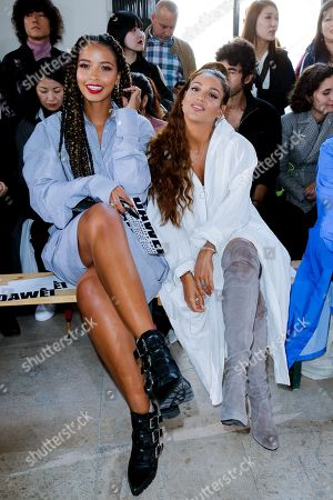 Editorial picture of Dawei show, Front Row, Spring Summer 2020, Paris Fashion Week, France - 24 Sep 2019