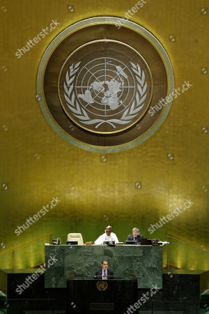 Morocco's Prime Minister Saad Eddine el-Othmani addresses the 74th session of the United Nations General Assembly, at the U.N. headquarters