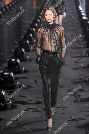 Editorial image of Saint Laurent show, Runway, Spring Summer 2020, Paris Fashion Week, France - 24 Sep 2019