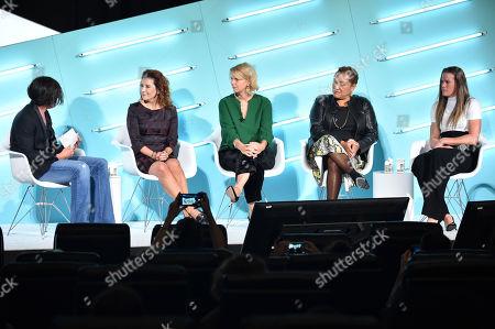 Madeline Di Nonno (CEO, Geena Davis Institute on Gender in Media), Megan Clarken (Chief Commercial Officer, Nielsen Global Media), Sarah Kate Ellis (President & CEO, GLAAD), Christina Norman (Media Advisor) and Alyssa Naeher (Goalkeeper, U.S Women's National Soccer Team)