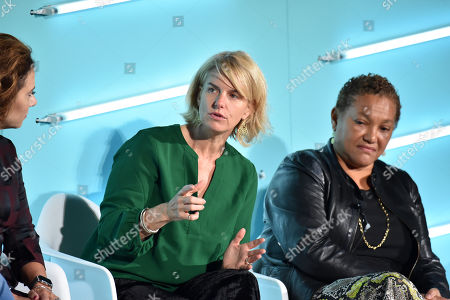Sarah Kate Ellis (President & CEO, GLAAD) and Christina Norman (Media Advisor)