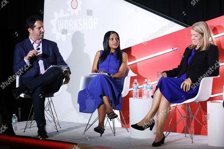 Peter Sedlarcik (Chief Data Officer, Havas Media), Radha Subramanyam (Chief Research and Analytics Officer, CBS Television Network, CBS Television Network) and Jane Clarke (CEO and Managing Director, CIMM)