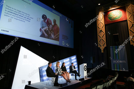 Stock Photo of Bernard Brenner (Senior Director, Microsoft), Amy Fenton (Chief Client Officer, Kantar), Alice Thompson (Head of Inclusion, Equity and Diversity, North America, Kantar) and Paul Donato (Chief Research Officer, ARF)