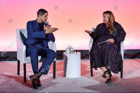 Editorial picture of Backstage with Trevor Noah and Jeremi Gorman: Creativity and the Mobile Generation seminar, Advertising Week New York, AMC Lincoln Square, New York, USA - 25 Sep 2019