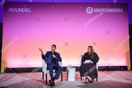 Editorial photo of Backstage with Trevor Noah and Jeremi Gorman: Creativity and the Mobile Generation seminar, Advertising Week New York, AMC Lincoln Square, New York, USA - 25 Sep 2019