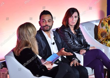 Arianna Huffington (Founder and CEO of Thrive Global, Thrive Global), Hesham Tohamy (VP of North America Feminine Care and Global Pads and Tampons Brand Franchise Leader, Procter & Gamble) and Donna Murphy (Global CEO, Havas)