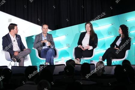 Stock Image of John Povey (COO, a4 Media), Jon Steinberg (President, Altice USA News), Colleen Durkin (SVP, Group Director, Video Investment, Assembly Media) and Adina Smith (SVP, Integrated Marketing, Brand & PR, REVOLT)