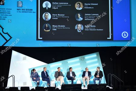 Maya Draisin (SVP, Progress Marketing, TIME), Dallas Lawrence (Chief Communications and Brand Officer, OpenX), James Lawson (Chief Executive Officer, Board Member, AdTheorent), Daniel Riddell (CTO, Kidoodle.tv), Scott Wells (CEO, Clear Channel Outdoor) and David Rosner (EVP, Head of Marketing, Collab)