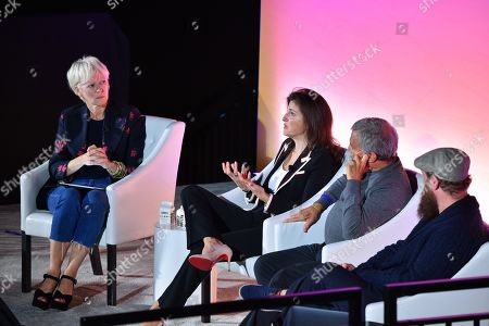 Joanna Coles (Founder & Chief Creative Officer, Boudica), Emily Del Greco (President, Americas, MightyHive), Sir Martin Sorrell (Executive Chairman, S4 Capital) and Wesley ter Haar (Founder, COO, Mediamonks)