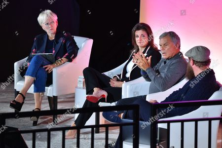 Stock Picture of Joanna Coles (Founder & Chief Creative Officer, Boudica), Emily Del Greco (President, Americas, MightyHive), Sir Martin Sorrell (Executive Chairman, S4 Capital) and Wesley ter Haar (Founder, COO, Mediamonks)