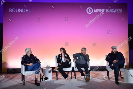 Stock Image of Joanna Coles (Founder & Chief Creative Officer, Boudica), Emily Del Greco (President, Americas, MightyHive), Sir Martin Sorrell (Executive Chairman, S4 Capital) and Wesley ter Haar (Founder, COO, Mediamonks)