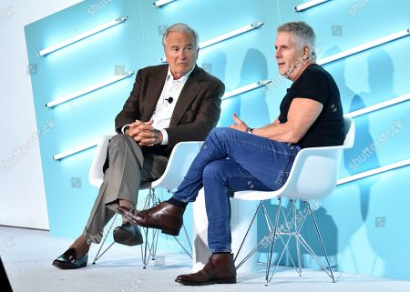 Stock Picture of Ken Auletta (Author and Media Critic, The New Yorker) and Donny Deutsch (MSNBC Correspondent & Chairman Emeritus, Deutsch Inc.)
