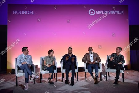 Stock Picture of Andy Riemer (Executive, Social Impact, CAA), Naomi Snider (Research Fellow, NYU), Ryan Jamaal Swain (Actor), Ted Bunch (Chief Development Officer, A CALL TO MEN) and Andy Katz-Mayfield (CEO and Co-Founder, Harry's)