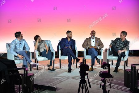 Andy Riemer (Executive, Social Impact, CAA), Naomi Snider (Research Fellow, NYU), Ryan Jamaal Swain (Actor), Ted Bunch (Chief Development Officer, A CALL TO MEN) and Andy Katz-Mayfield (CEO and Co-Founder, Harry's)