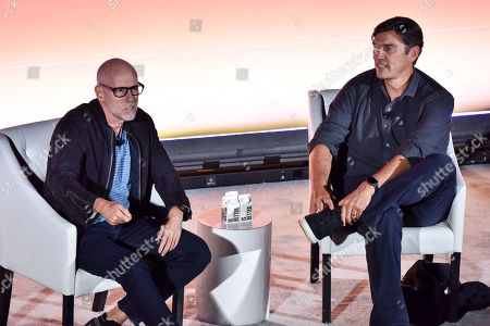 Stock Photo of Scott Galloway (NYU Professor, Author, & Entrepreneur) and Tim Armstrong (Founder & CEO, the dtx company)