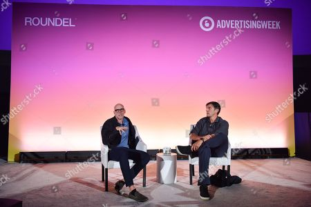 Stock Image of Scott Galloway (NYU Professor, Author, & Entrepreneur) and Tim Armstrong (Founder & CEO, the dtx company)