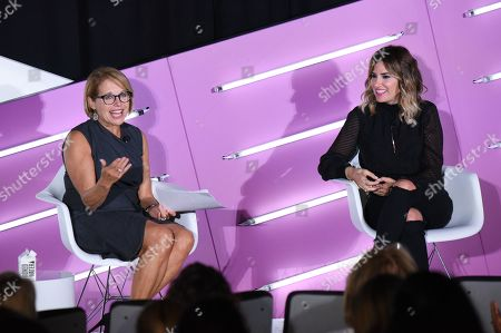 Stock Photo of Katie Couric (Journalist, Podcaster, SU2C Founder and Documentary Filmmaker, Katie Couric Media) and Alli Webb (Founder, DryBar, Entrepreneur)