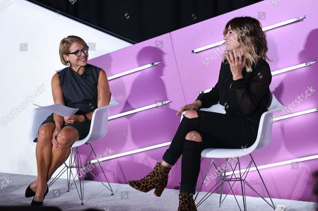 Stock Picture of Katie Couric (Journalist, Podcaster, SU2C Founder and Documentary Filmmaker, Katie Couric Media) and Alli Webb (Founder, DryBar, Entrepreneur)