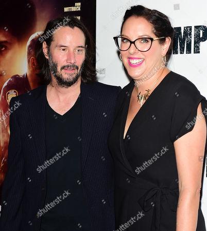 Keanu Reeves and Karina Miller