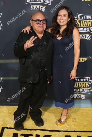 Stock Picture of Danny DeVito and Lucy DeVito