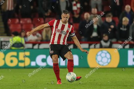 25th September 2019 , Bramall Lane, Sheffield, England; EFL Carabao Cup Football, Third round, Sheffield United vs Sunderland ; Phil Jagielka (15) of Sheffield United during the game Credit: Mark Cosgrove News Images English Football League images are subject to DataCo Licence
