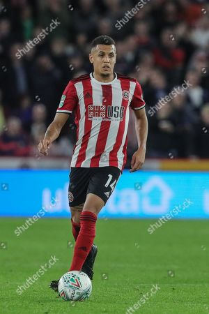 25th September 2019 , Bramall Lane, Sheffield, England; EFL Carabao Cup Football, Third round, Sheffield United vs Sunderland ; Ravel Morrison (14) of Sheffield United in action during the game  Credit: Mark Cosgrove News Images English Football League images are subject to DataCo Licence