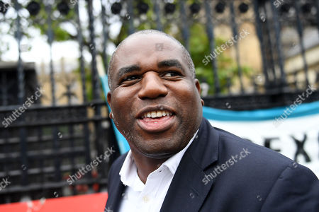 David Lammy arrives at the Houses of Parliament after the end of the prorogation.