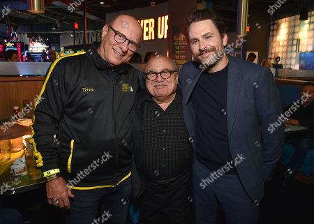 Thomas Lofaro, Danny DeVito and Charlie Day