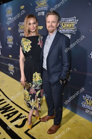 Stock Picture of David Hornsby and Emily Deschanel