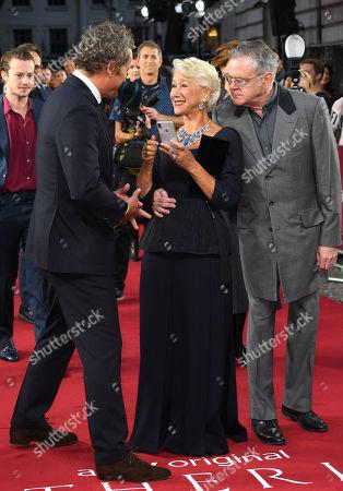 Jason Clarke, Helen Mirren and Kevin McNally
