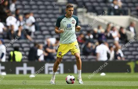 Jan Bednarek of Southampton warms up