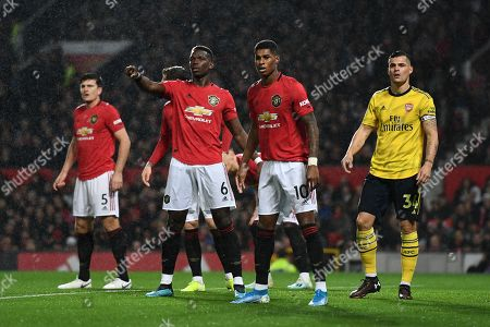 Paul Pogba of Manchester United shouts instructions.