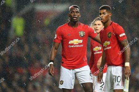 Stock Photo of Paul Pogba of Manchester United and Marcus Rashford of Manchester United.