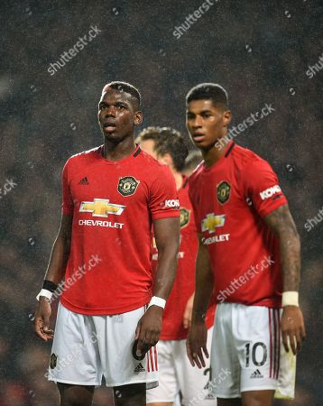 Paul Pogba of Manchester United and Marcus Rashford of Manchester United.