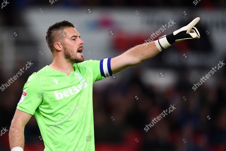 Stock Image of Goal Keeper Jack Butland of Stoke City.
