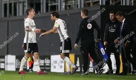 Stefan Johansen of Fulham is replaced by Harry Arter of Fulham