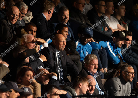 Henrik Larsson (Bottom Right) looks on from the stands